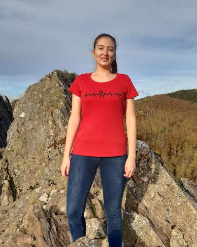 T-shirt-femme-électrocardiogramme