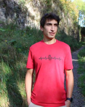 T-shirt-homme-électrocardiogramme