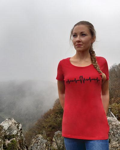 T-shirt-femme-Electrocardiogramme-coton-bio