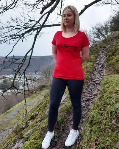T-shirt-RUN-SHIRT-femme-Electrocardiogramme