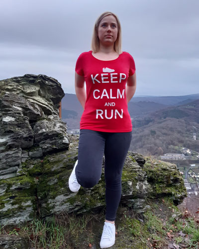 T-shirt-RUN-SHIRT-femme-Keep-calm-and-run