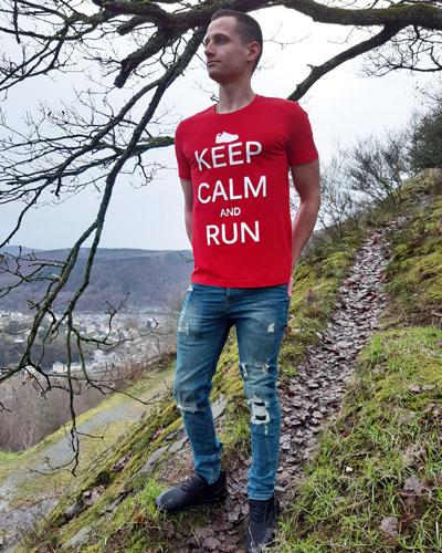 T-shirt-RUN-SHIRT-homme-Keep-calm-and-run