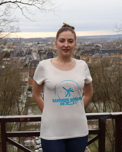 T-shirt-femme-RUN-SHIRT-Barrière-horaire
