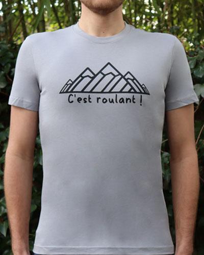 T-shirt-homme-RUN-SHIRT-Cest-roulant