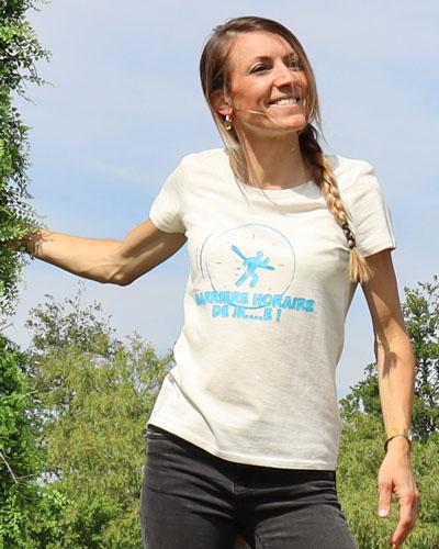T-shirt-RUN-SHIRT-femme-Barrière-horaire